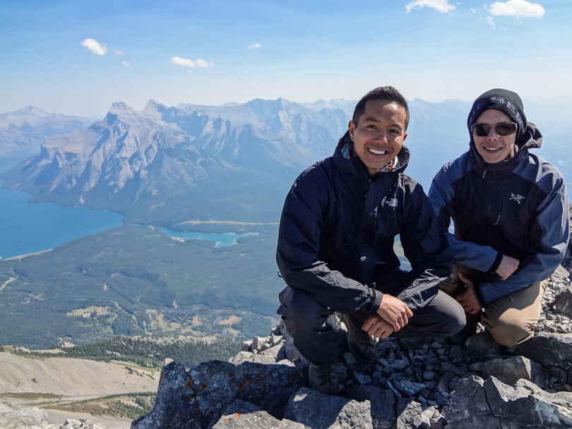 Dan and I at the summit of Cascade Mountain one year ago