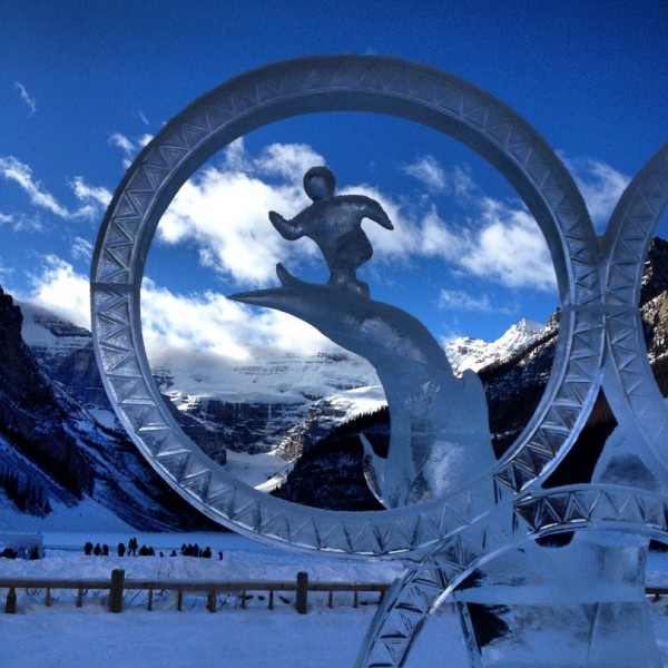 Olympic themed ice sculptures