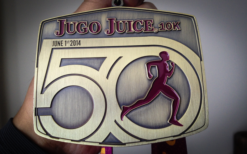 50th Anniversary Jugo Juice 10k medal!