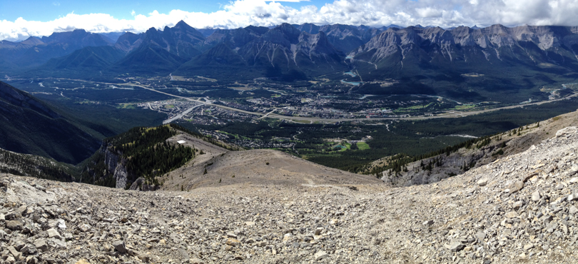 Looking back toward Canmore