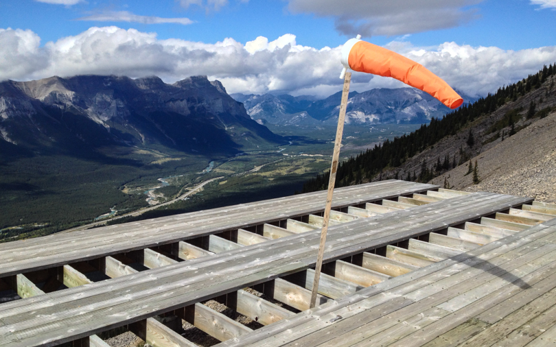 The Bow Valley from the helicopter pad