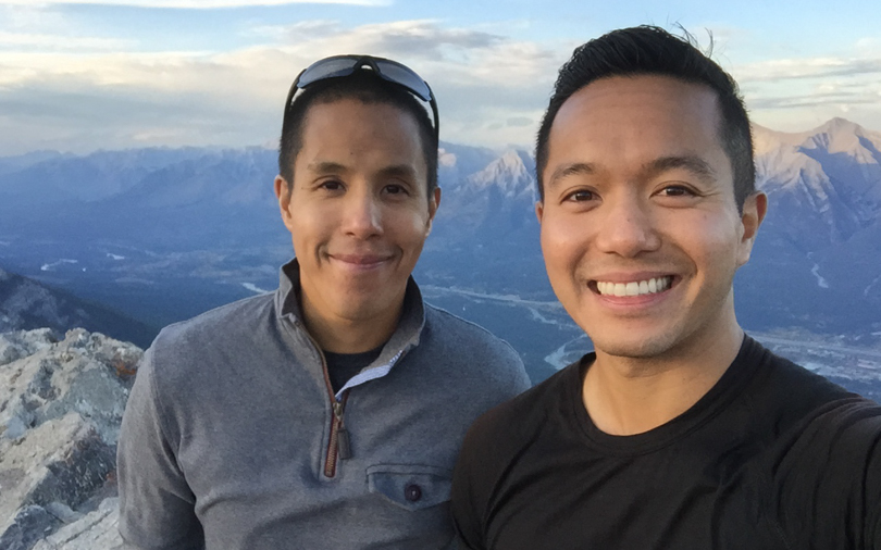 It's was so awesome to hike to this summit with my bro!