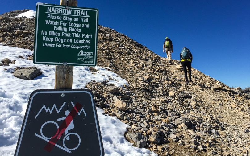 The last push to the summit