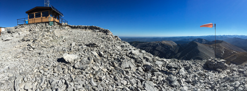The view from the helicopter pad at the summit. Gorgeous!
