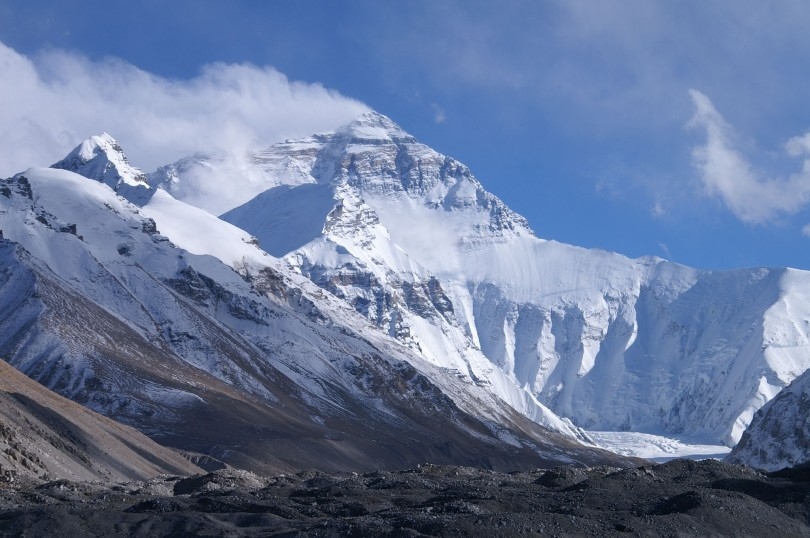 Mount Everest from base camp. Photo credit: Rupert Taylor-Price https://flic.kr/p/PfJe2