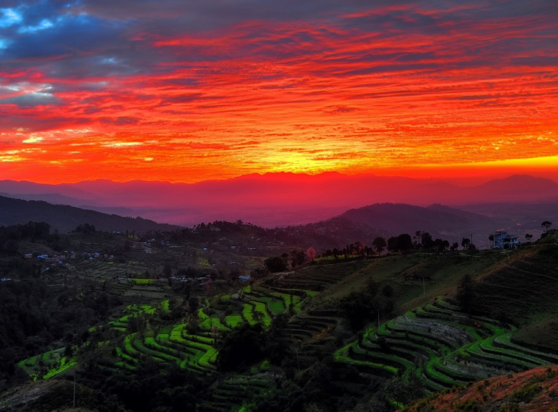 """Kathmandu Valley Sunset"" by Mike Behnken https://flic.kr/p/8PWb5s"