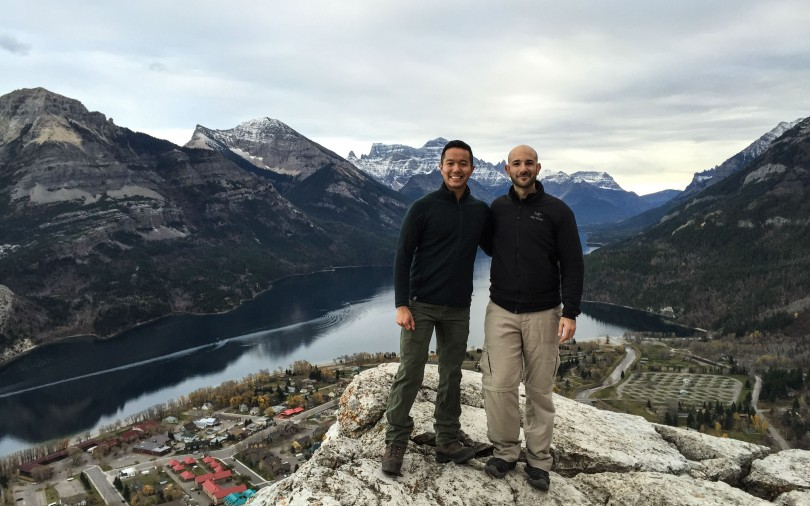 Bear's Hump in Waterton with Robbie
