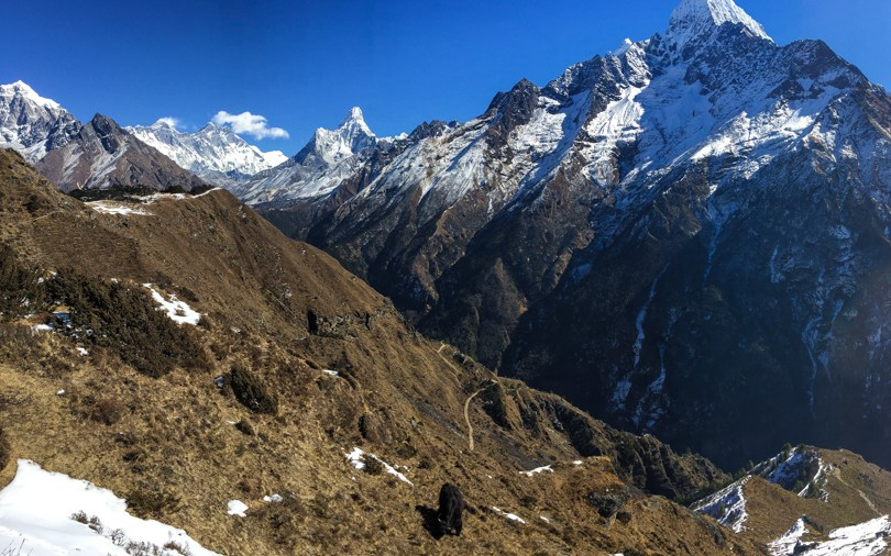 En route to the Hotel Everest View. Wow!