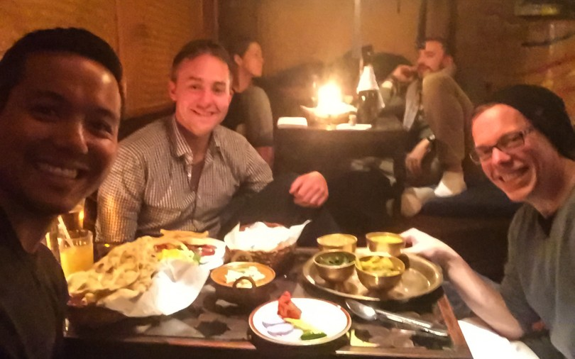 Awesome Indian food with Alan and Dan at the Third Eye restaurant