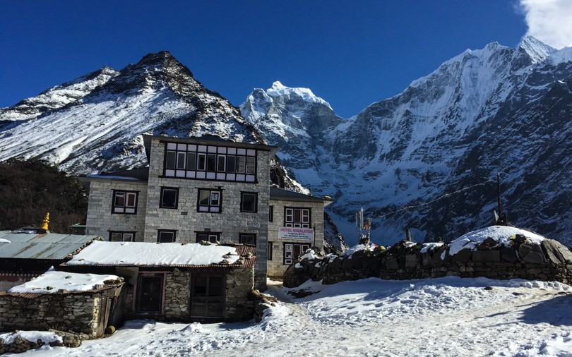Arriving in Tengboche