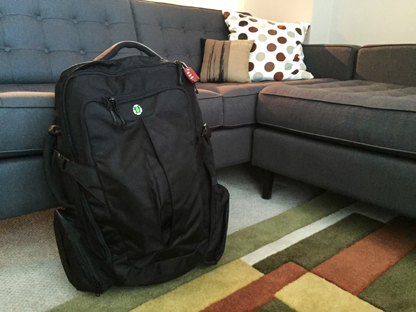 The Tortuga Travel Backpack: Packed and ready to go!