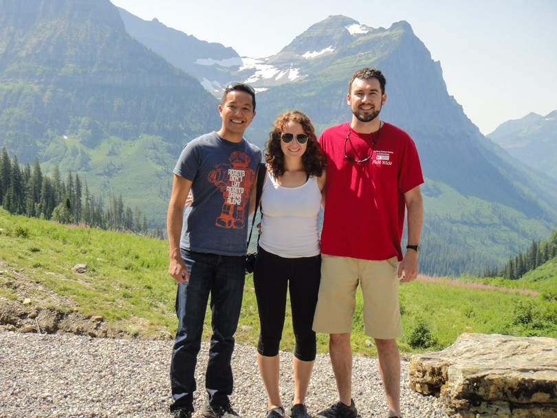 Stopping for a photo on the Going-To-The-Sun Road