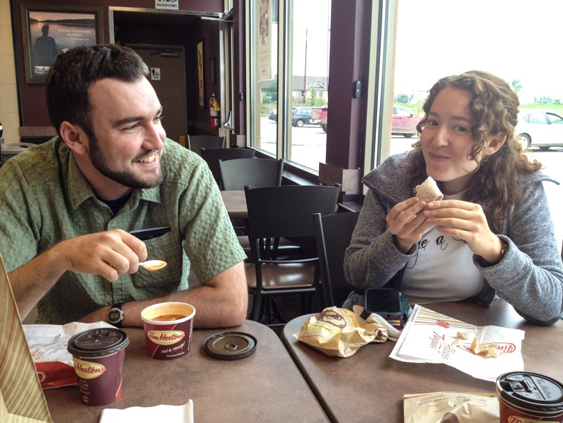 Requisite Timmies road-trip stop... especially for my American friends