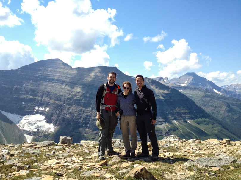 David, Anna and I celebrating at the top of Dawson Pass