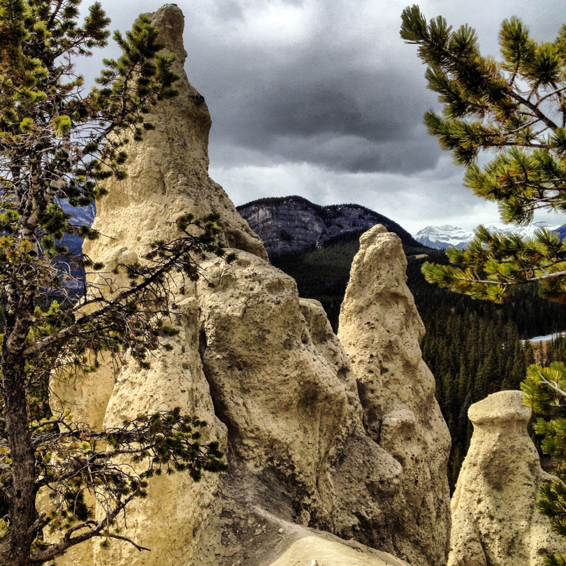 The hoodoos in Banff
