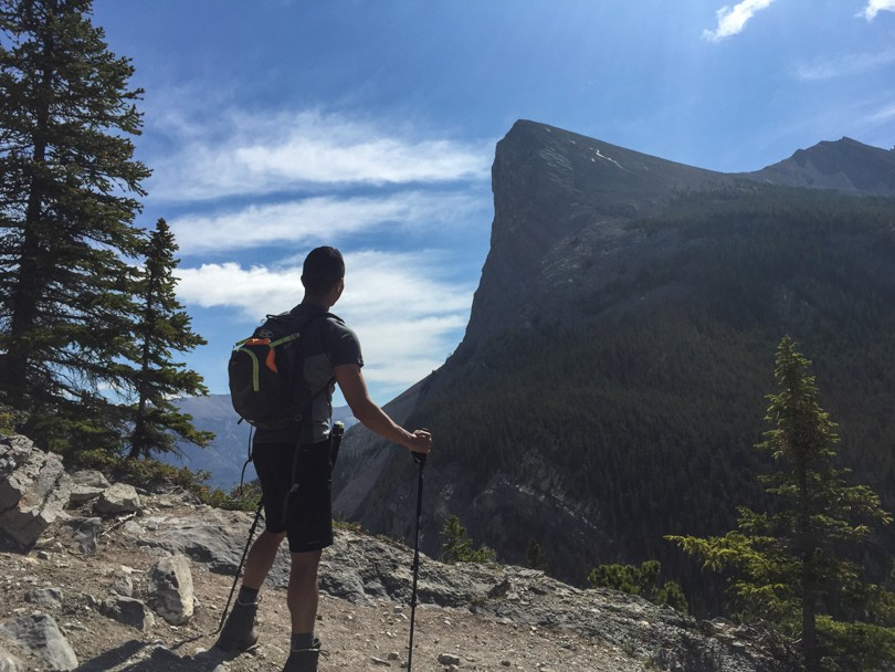 Looking toward Ha Ling during the ascent of East End of Rundle