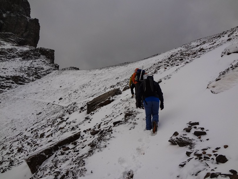 A snowy hike up Sentinel Pass