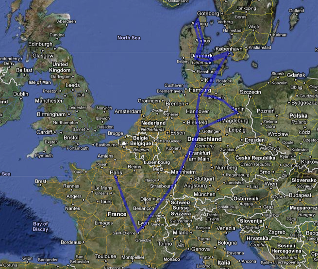 My European trip 2011: France, Germany and Denmark :)