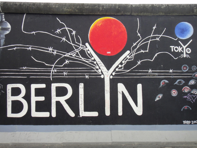 At the Berliner Mauer East Side Gallery of The Berlin Wall