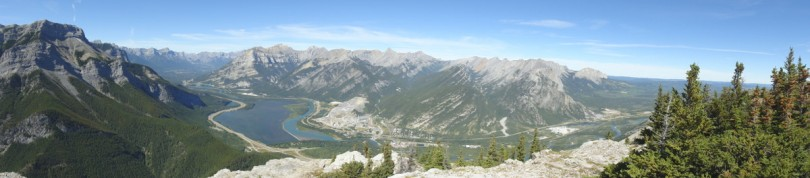 Panoramic from the first summit