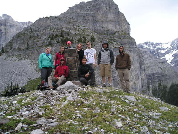 Part of the group that hiked all the way to the third lake. W00t!