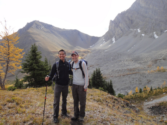 Paul and I, and Mount Tyrwhitt in the background