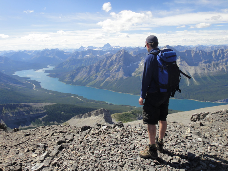 Incredible view of the Spray Lakes Reservoir. Read's Ridge is looking tiny from here!