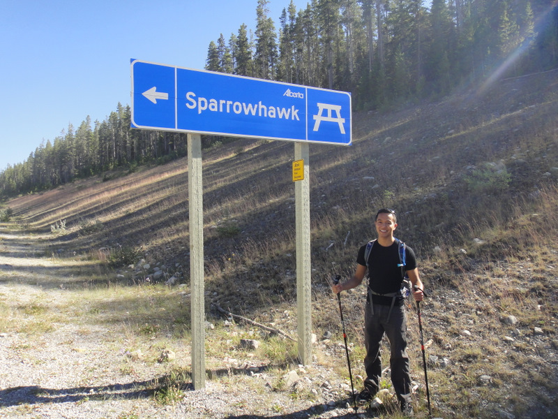 The trail starts at the Sparrowhawk sign across from the parking lot