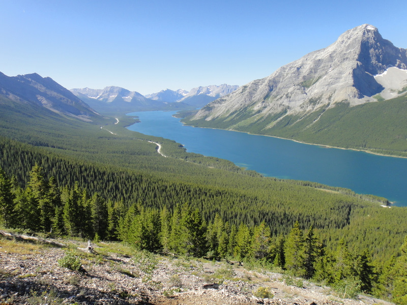A nice view of the Spray Lakes Reservoir