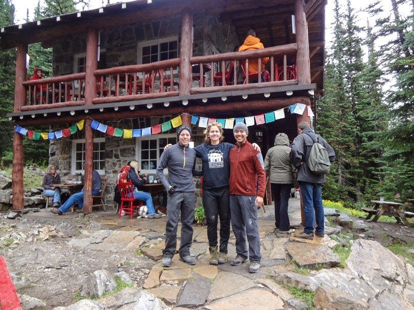 Dan, Suzanne and I at the Plain of Six Glaciers Tea House