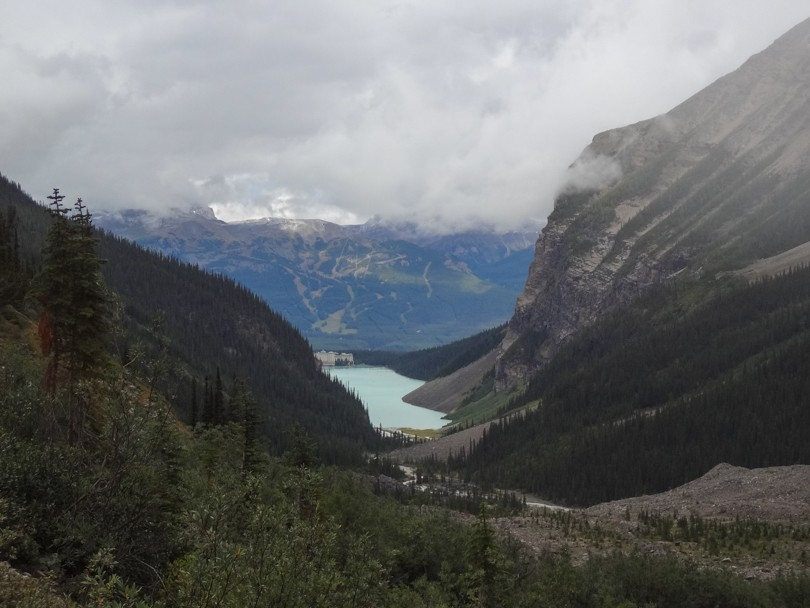 En route from the Plain of Six Glaciers Tea House to the Lake Agnes Tea House