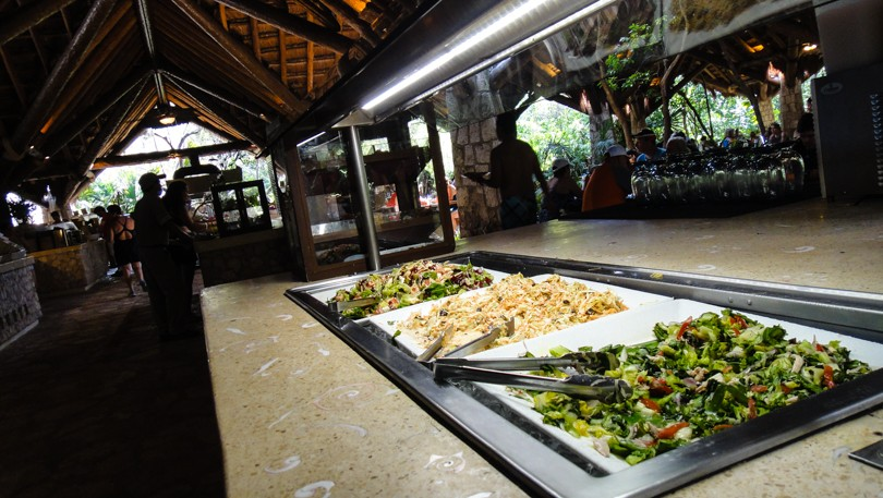 A buffet restaurant with really good food! You'll need for all the adventuring :)