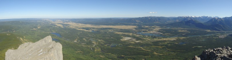 View from the summit of Yamnuska
