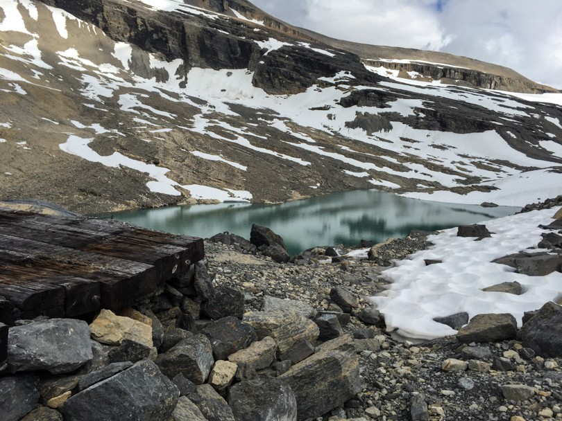 This glacial lake was our water source