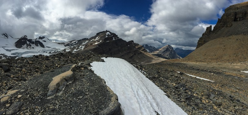 The landscape around Peyto Hut is gorgeous!