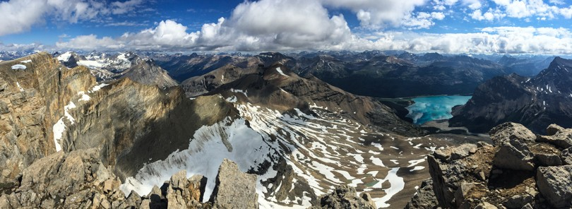 Panoramic from the summit of Mount Thompson