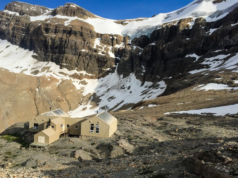 The Bow Hut at 2350 metres. This would be home for the first two nights, and the last night of the trip
