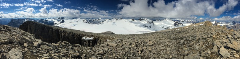 Panoramic of the Wapta Icefield