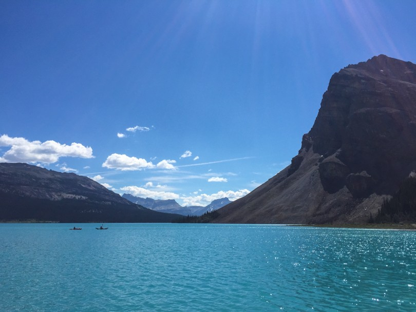 It was tempting to jump into Bow Lake on such a hot day!