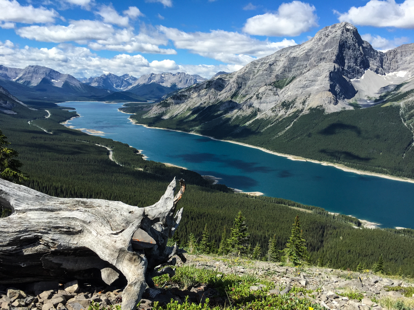 The Spray Lakes provide an fantastic backdrop to the hike