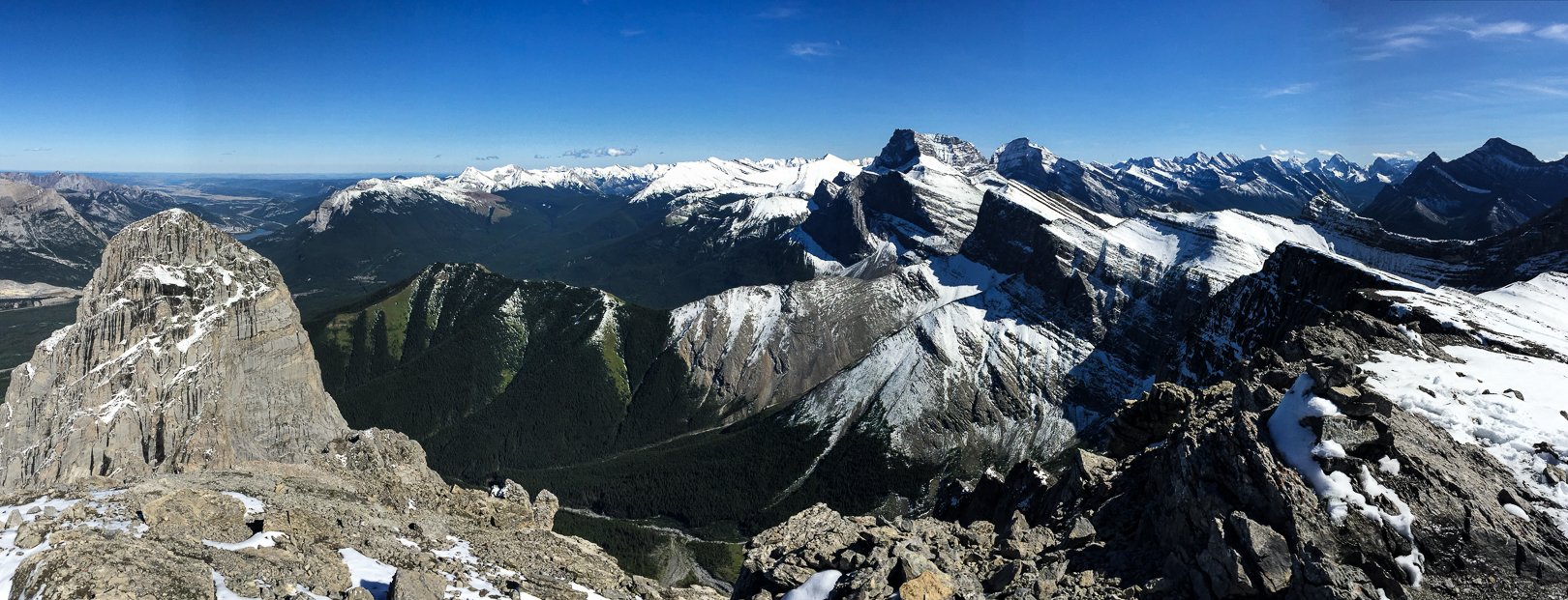 Panorama from the summit of Middle Sister