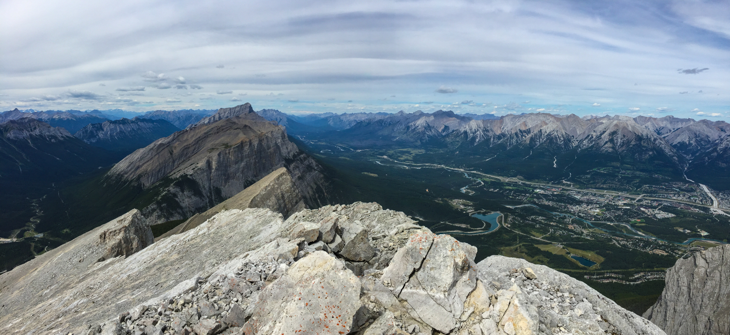 The East End of Rundle, Ha Ling, and Canmore below
