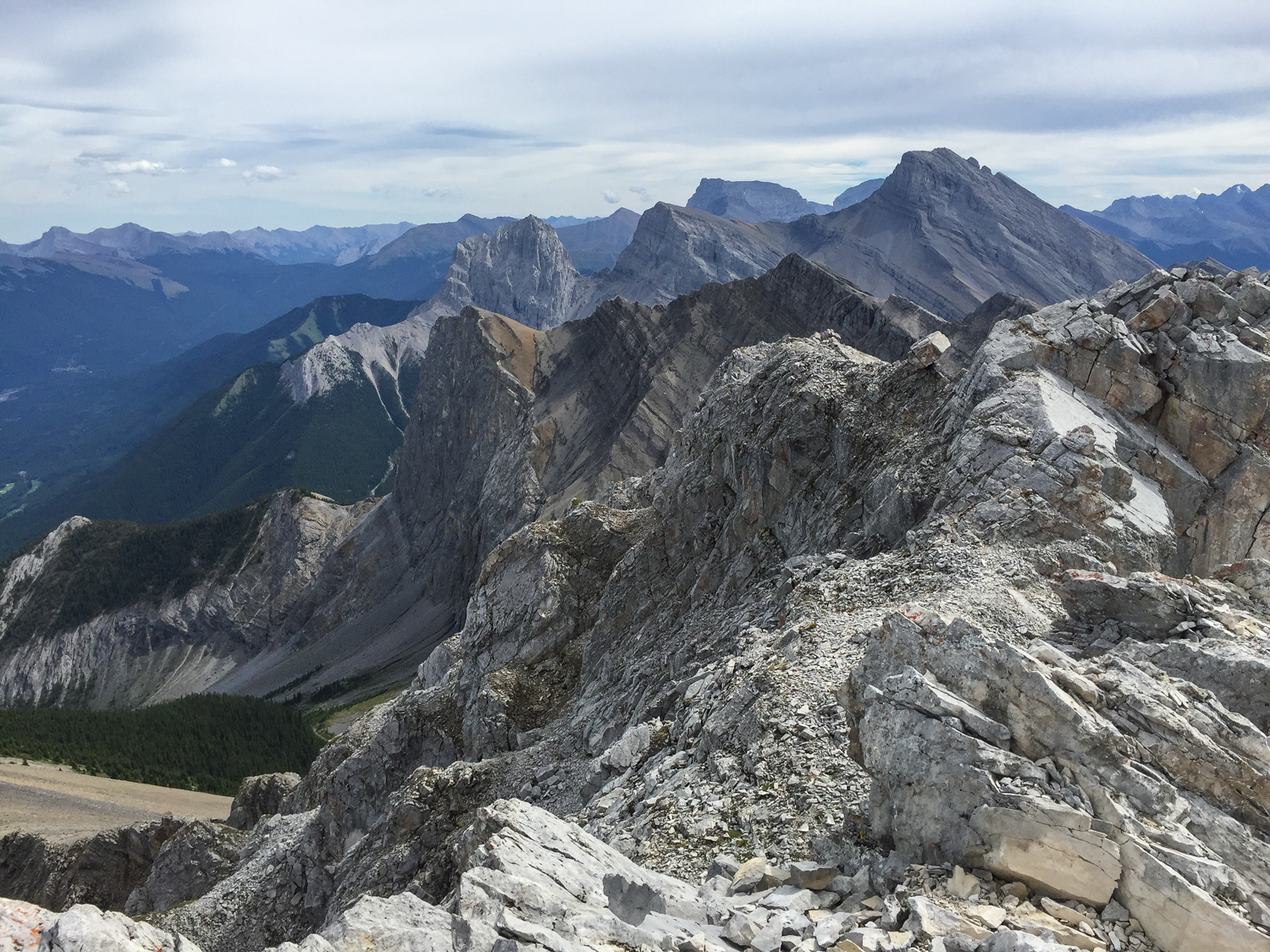 Southeast view from the summit